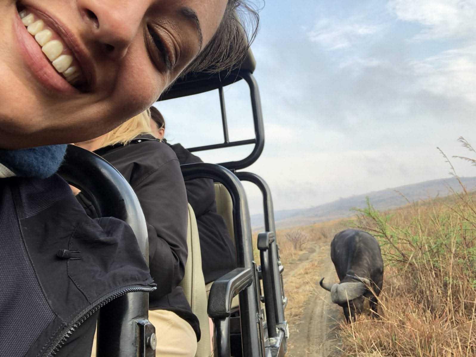 Tina Sayed Nestius från Safaribloggen på safari