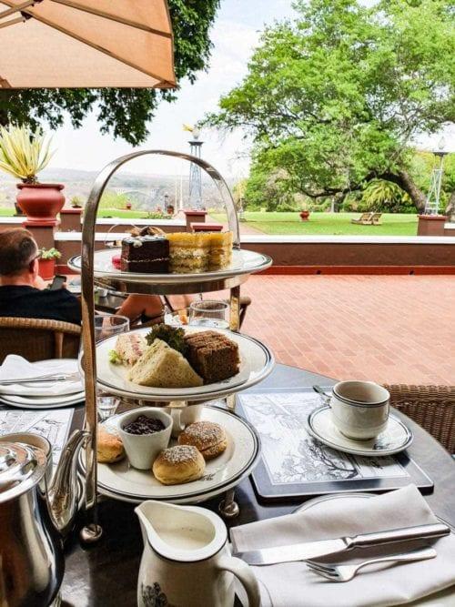 Afternoon tea på Victoria Falls hotel, Victoriafallen