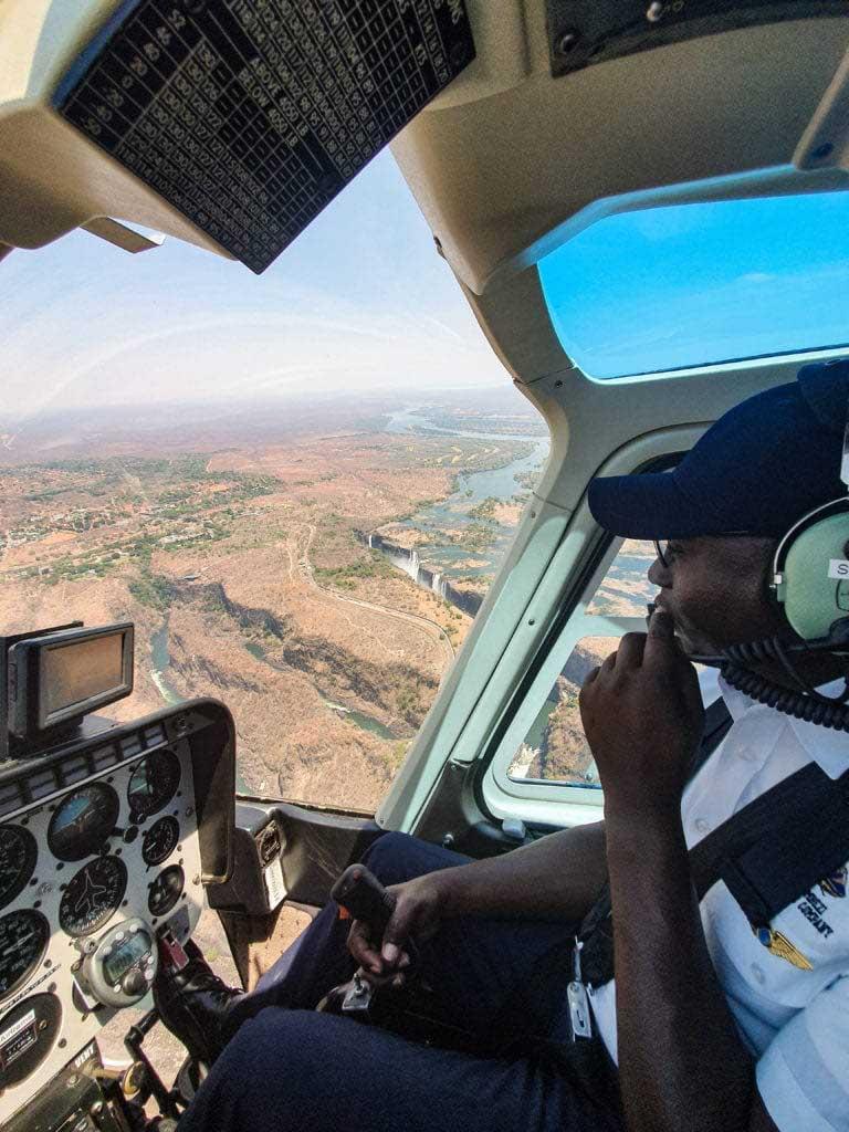 att göra i Victoriafallen, helikoptertur