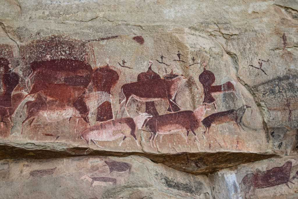 Giants castle San rock paintings