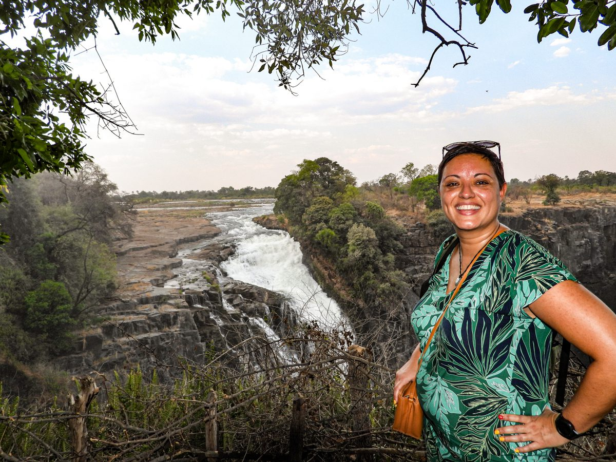 Tina Sayed Nestius, vd för Afrikakompaniet, vid Victoriafallen